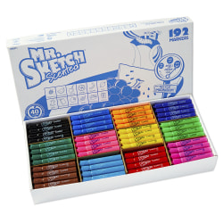 Mr. Sketch® Scented Markers, Class Pack, Assorted Colors, Pack Of 192