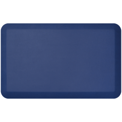 """GelPro NewLife Designer Comfort Leather Grain Anti-Fatigue Floor Mat, 20"""" x 32"""", Navy"""