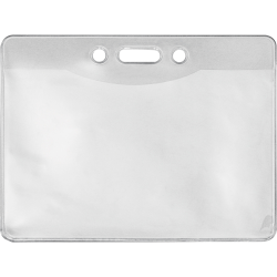 "Advantus Government/Military ID Holders - Support 4"" x 2.75"" Media - Horizontal - Vinyl - 50 / Pack - Clear"