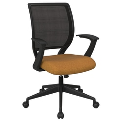 Office Star™ Work Smart Mesh Task Chair, Brass/Black