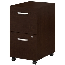 Bush Business Furniture Components 2 Drawer Mobile File Cabinet, Mocha Cherry, Standard Delivery