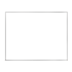 "Ghent Verona Dry-Erase Whiteboard, 24"" x 36"", Silver Aluminum Frame"