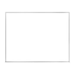 "Ghent Verona Dry-Erase Whiteboard, Melamine, 24"" x 36"", White, Aluminum Frame"