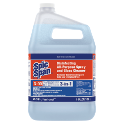 Spic and Span Disinfecting All-Purpose Spray & Glass Cleaner, 1 Gallon, Light Blue, Case Of 3 Bottles