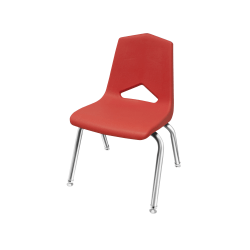 """Marco Group™ Apex™ Stacking Chairs, 26""""H, Red/Chrome, Pack Of 6"""