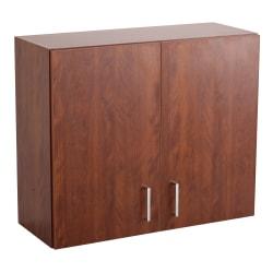 Safco® Modular Hospitality Wall Cabinet, Mahogany