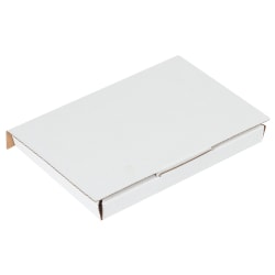 """Office Depot® Brand White Corrugated DVD Mailers, 7 5/8"""" x 5 7/16"""" x 11/16"""", , Pack Of 50"""