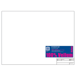 "Staedtler® Vellum Paper With Title Block & Border, 18"" x 24"", 10 Sheets, White"