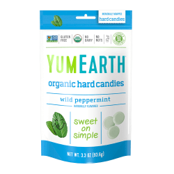 Yummy Earth Organic Wild Peppermint Hard Candies, 3.3 Oz, Pack Of 3 Bags