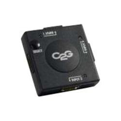 C2G 3-Port HDMI Auto Switch - 1920 x 1080 - Full HD - 3 x 1 - 1 x HDMI Out