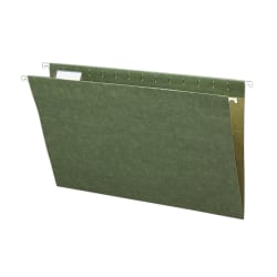Smead® Premium-Quality Hanging Folders, 1/5 Cut, Legal Size, Standard Green, Pack Of 25