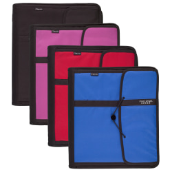 """Five Star® Zippered 3-Ring Binder Filer, 2"""" Round Rings, Assorted Colors"""