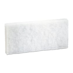 """Boardwalk® Light-Duty Synthetic Fiber Pads, 10"""" x 4 5/8"""", White, Pack Of 20 Pads"""