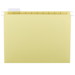 Smead® Hanging File Folders, 1/5-Cut Adjustable Tab, Letter Size, Yellow, Box Of 25
