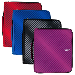 """Five Star® Multi-Access Zipper 3-Ring Binder, 2"""" Round Rings, Assorted Colors"""