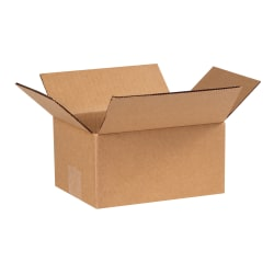 "Office Depot® Brand Corrugated Cartons, 8"" x 6"" x 4"", Kraft, Pack Of 25"