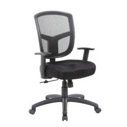 Boss Contract Mesh High-Back Task Chair, Black