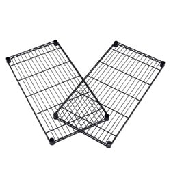 """OFM Extra Wire Shelves For Heavy-Duty Storage Units, 1""""H x 36""""W x 24""""D, Black, Pack Of 2"""