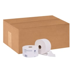 """Tork® Universal High-Capacity 2-Ply Toilet Paper With OptiCore®, 3 3/4"""" x 4"""", White, 2,000 Sheets Per Roll, Pack Of 12 Rolls"""