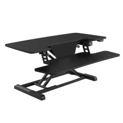 "FlexiSpot EM7L 40""W Motorized Sit-Stand Desk Converter, Black"