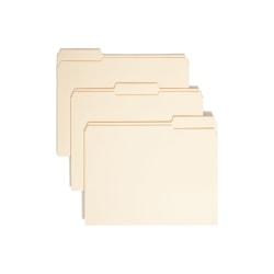 Smead® Reinforced Tab File Folders, Letter Size, 1/3 Cut, Manila, Box Of 100