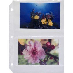 "Photo Holders For Three-Ring Binders, 4"" x 6"", Box Of 50"