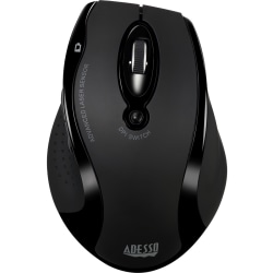 Adesso® iMouse G25 Wireless RF Ergonomic Laser Mouse, Black