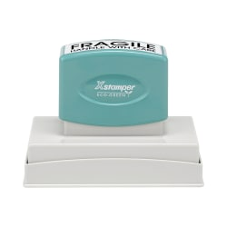 "Custom ECO-GREEN Xstamper® Pre-Inked Stamp, N27, 65% Recycled, 1-9/16"" x 3-15/16"" Impression"