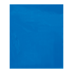 """Office Depot® Brand Flat 2-Mil Poly Bags, 15"""" x 18"""", Blue, Case Of 1,000"""
