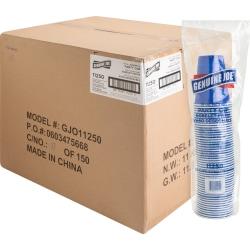 Genuine Joe 16 oz Plastic Party Cups - 50 - 16 fl oz - 1000 / Carton - Blue - Plastic - Party, Cold Drink, Beverage