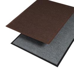 "Crown Needle-Rib Wipe And Scrape Mat, 36"" x 120"", Gray"