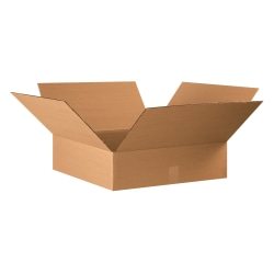 "Office Depot® Brand Corrugated Cartons, 22"" x 22"" x 6"", Kraft, Pack Of 15"