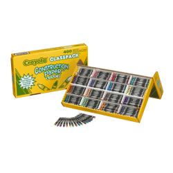 Crayola® Construction Paper Crayons, Assorted Colors, Box Of 400