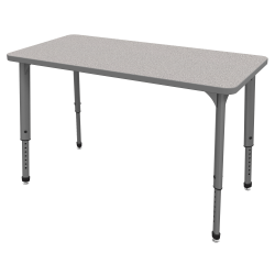 "Marco Group™ Apex™ Series Rectangle Adjustable Table, 30""H x 48""W x 24""D, Gray Nebula/Gray"