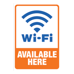 "Cosco Sign Vinyl Decals, Wi-Fi Available Here, 5 1/4"" x 6 1/4"""