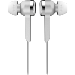 IQ Sound Digital Stereo Earphones - Stereo - Silver - Wired - Earbud - Binaural - In-ear - 4 ft Cable