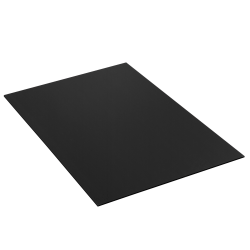 """Office Depot® Brand Plastic Corrugated Sheets, 24"""" x 36"""", Black, Pack Of 10"""