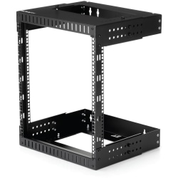 StarTech.com 12U Wallmount Server Rack- Equipment rack - 12 - 20 in. Depth - Mount your server or networking equipment to the wall, using this adjustable 12U open frame rack - Easy installation with mounting points positioned 12 and 16 in. apart to match