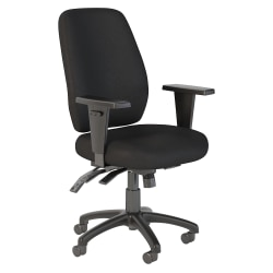Bush Business Furniture Prosper High Back Multifunction Office Chair, Black Fabric, Standard Delivery