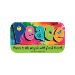 AmuseMints® Sugar-Free Mints, Peace, 0.56 Oz, Pack Of 24