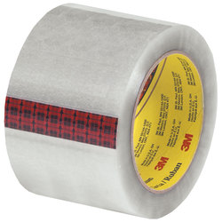 "Scotch® 313 Carton Sealing Tape, 3"" Core, 3"" x 110 Yd., Clear, Case Of 6"