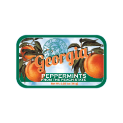 AmuseMints® Destination Mint Candy, Georgia Peach, 0.56 Oz, Pack Of 24