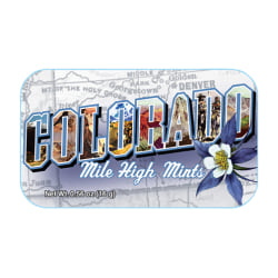 AmuseMints® Destination Mint Candy, Colorado Mile High, 0.56 Oz, Pack Of 24
