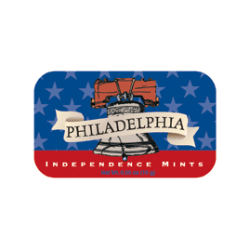 AmuseMints® Destination Mint Candy, Philadelphia Independence, 0.56 Oz, Pack Of 24