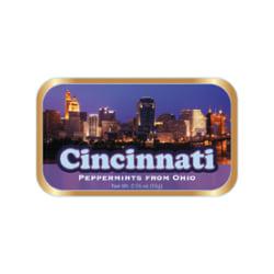 AmuseMints® Destination Mint Candy, Cincinnati Skyline, 0.56 Oz, Pack Of 24