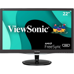 "ViewSonic® 22"" Full HD LED LCD Monitor, HDMI, VGA, DisplayPort, Audio In, Audio Out VX2257-mhd"