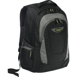 "Targus Trek Carrying Case (Backpack) for 16"" Notebook - Black, Yellow, White Accent - Polyester - Shoulder Strap - 18.9"" Height x 13"" Width x 7.1"" Depth"