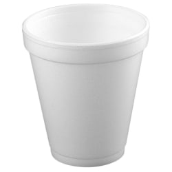 Dart® Insulated Foam Drinking Cups, White, 8.5 Oz, Box Of 51
