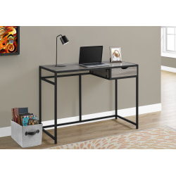 Monarch Specialties Metal Computer Desk, Black/Dark Taupe