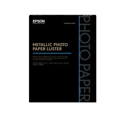 "Epson® Metallic Photo Paper, Letter Size (8 1/2"" x 11""), 68 Lb, White, Ream Of 25 Sheets, # S045596"